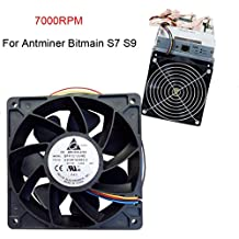 Cooling Fan, Oldeagle 7000RPM Cooling Fan Replacement 4-pin Connector For Antminer Bitmain S7 S9