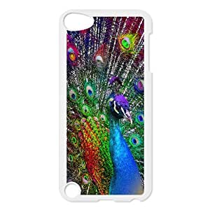 ADCASE Phone Case Of Peacock Bumper Plastic Customized Case For Ipod Touch 5