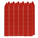 "UNIQOOO 3 1/2"" Carved Sealing Wax Sticks For Vintage Seal Stamp Wedding Invitation Cards 12pcs (Red)"