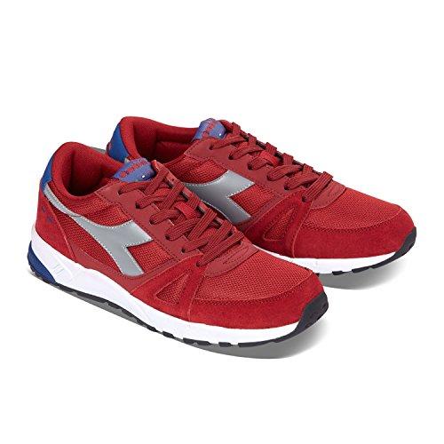 Diadora Run 90, Sneaker Basses Mixte Adulte 45043 - POIVRON ROUGE