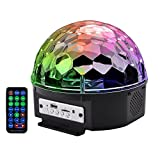 BOOMER VIVI B55 Bluetooth Speaker 8.6-Inch Crystal Super LED Strobe Bulb Multi Changing Color Crystal Stage Light, Wireless Speaker With Party Dance Light Aux Input TF Card Music Player Magic Ball
