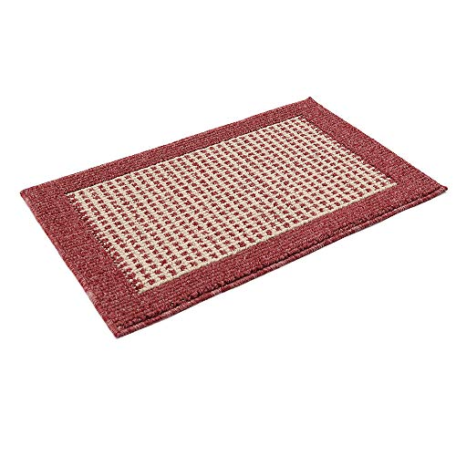28X18 Inch Anti Fatigue Washable Kitchen Rug Mats are Made of Polypropylene Square Rug Cushion Which is Anti Slippery and Stain Resistance,Red (Small Rugs For Kitchen)