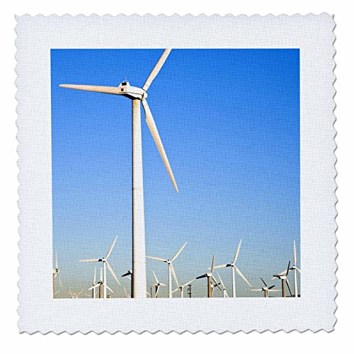 3dRose qs_88419_2 Palm Springs, energy wind turbines, California - US05 IST0014 - Inti St. Clair - Quilt Square, 6 by - St Clair Square