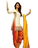 Crazy Women's Pure Cotton Embroidred Patiala Salwar Suit Semi Stitched