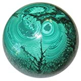 Malachite Ball 55 Authentic Green Blooming Flower Crystal Sphere Spiritual Growth Orb 2.6''