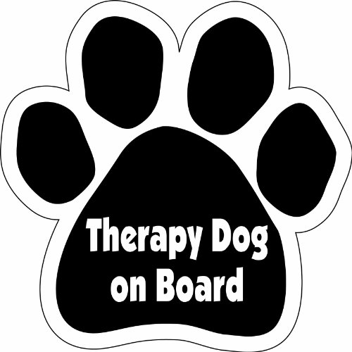 Imagine This Paw Car Magnet, Therapy Dog on Board, 5-1/2-Inch by 5-1/2-Inch
