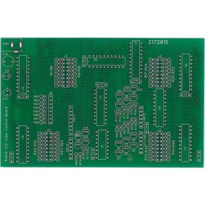 Jameco Kitpro CJPCB-CUBE2 PCB Cube Controller for 8 x 8 x 8 LED Cube Kit