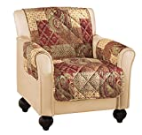 Paisley Floral Patchwork Furniture Protector Cover, Brown, Chair