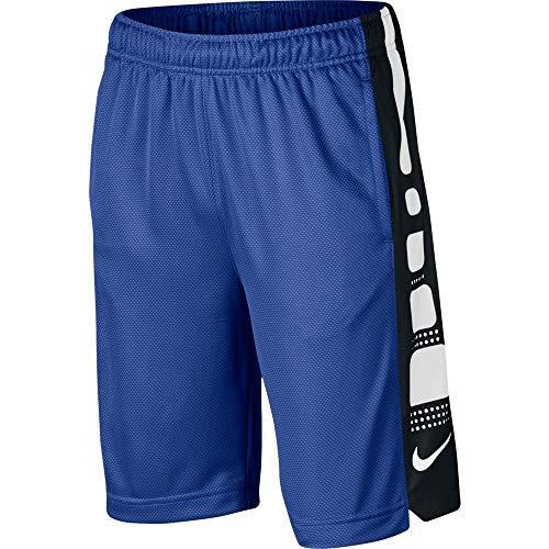 Nike Boy's Dri-Fit 8' Elite Basketball Shorts Game Royal/Black/White 943941-480 (Medium)