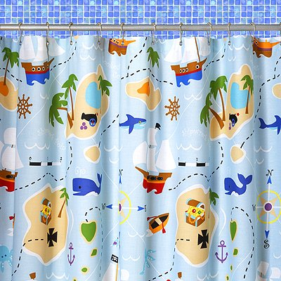 Olive Kids Pirates Shower Curtain