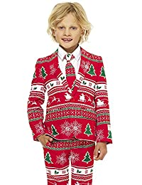 Opposuits Fun Christmas Suits - Full Set: Jacket, Pants and Tie