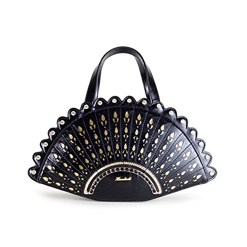47sto Womens New Trend Hollow Pattern Art Sculpture Fan Top-handle-handbag Shoulder Bag-c2