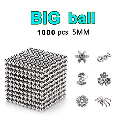DOTSOG 1000 Pieces 5mm Sculpture Building Blocks Toys for Intelligence DIY Educational Toys& Stress Relief for Adults