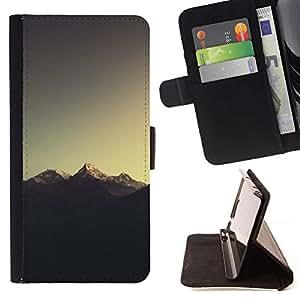 Momo Phone Case / Flip Funda de Cuero Case Cover - Montaña Nevada del Everest;;;;;;;; - Samsung Galaxy Core Prime