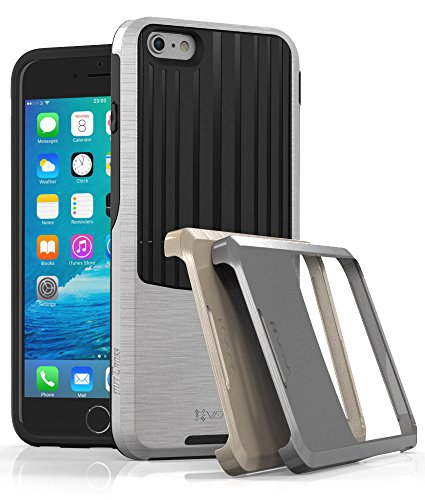 """Vena OutCross 3 in 1 PC + TPU Case for Apple iPhone 6 Plus / 6s Plus (5.5"""") - Space Gray + Silver + Gold (PC) / Black (TPU)"""