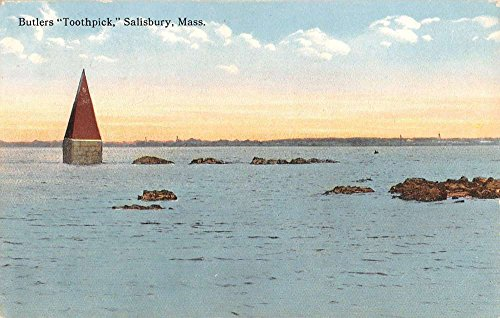 Salisbury Massachusetts Butlers Toothpick Waterfront Antique Postcard K41132