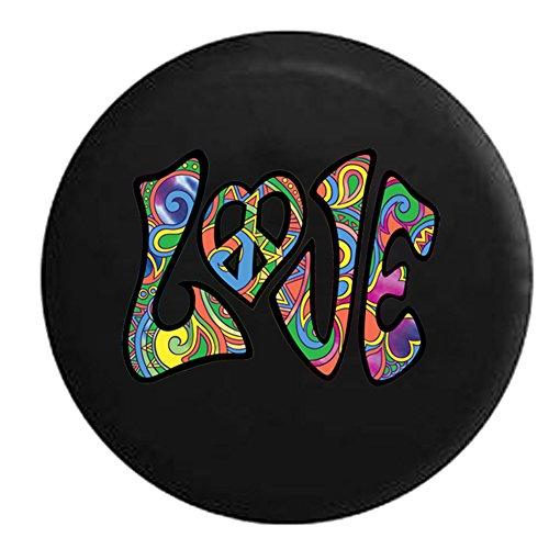 Love-Peace-Sign-Heart-Hippie-Multicolor-Spare-Tire-Cover