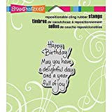 Stampendous CRH306 Cling Rubber Stamp, Delightful
