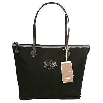 b2d1f4524 Bolsa Negro Bolso - La Martina Shopping Bag - Designer Mujer Ladies Mano  Bag con asa - Color: Black: Amazon.es: Electrónica