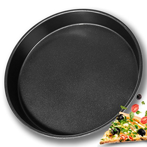 Fohome Pan Non-Stick 14 Inch/36CM Round Pizza Tray Carbon Steel Bakeware Deep Dish Baking Pans by Fohome