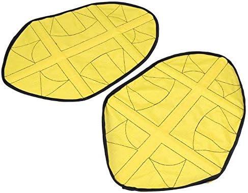 XKJFZ Mains Libres Lazy r/éutilisables Chaussures Bootie Couvre Chaussures Homme//Femme de Protection Portables Chaussures dint/érieur Automatique Accessoires Jaune