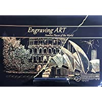 Gold Foil Engraving Art Painting Set 2 Sheets A3 Size SYDNEY OPERA HOUSE COLOSSEUM
