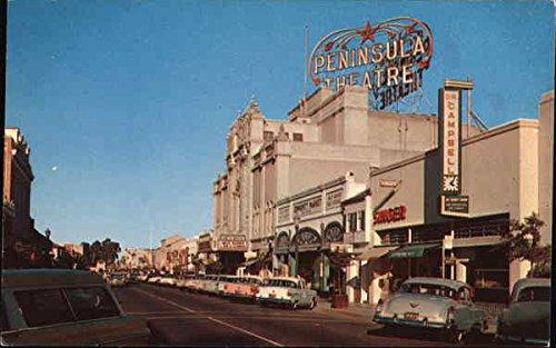 Street View of Burlingame Avenue Burlingame, California Original Vintage - Avenue Burlingame