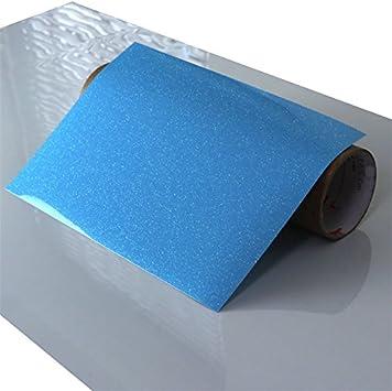 Flex Camiseta de textil pantalla para plotter 5 unidades DIN A4 – Glitter Neon Blue – siser g0027: Amazon.es: Jardín