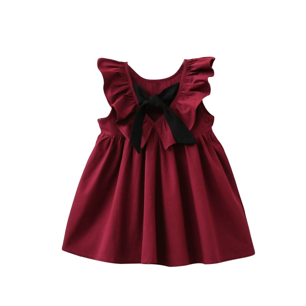 Toddler Baby Girls Short Sleeve Heart-Shaped Rose Romper and Tutu Skirt Cute Valentine Clothes Sets Kaicran