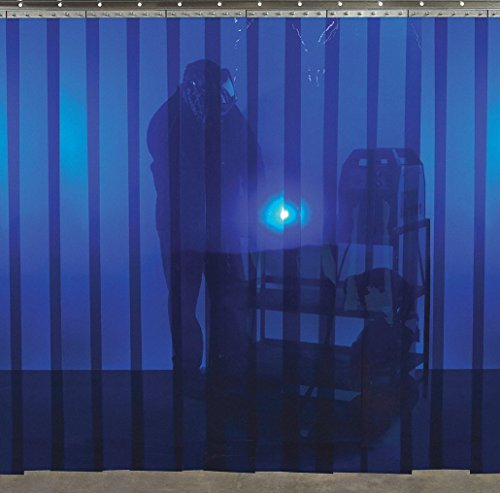 (Welding Strip Curtain, 6 x 8 ft, Blue, PVC)