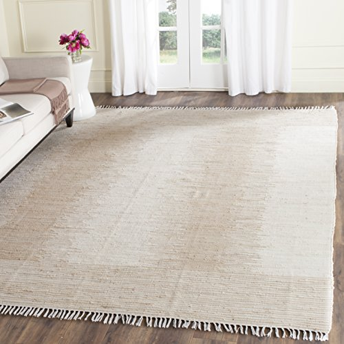 Safavieh Montauk Collection MTK752A Handmade Flatweave Beige Cotton Area Rug (8' x - Cotton Rug Weave