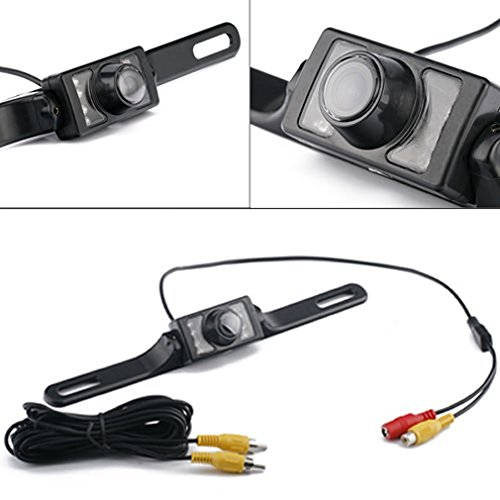 High-definition Rear-view License Plate Back-up and Parallel Parking Reversing Camera Universal Waterproof Color PAL NTSC