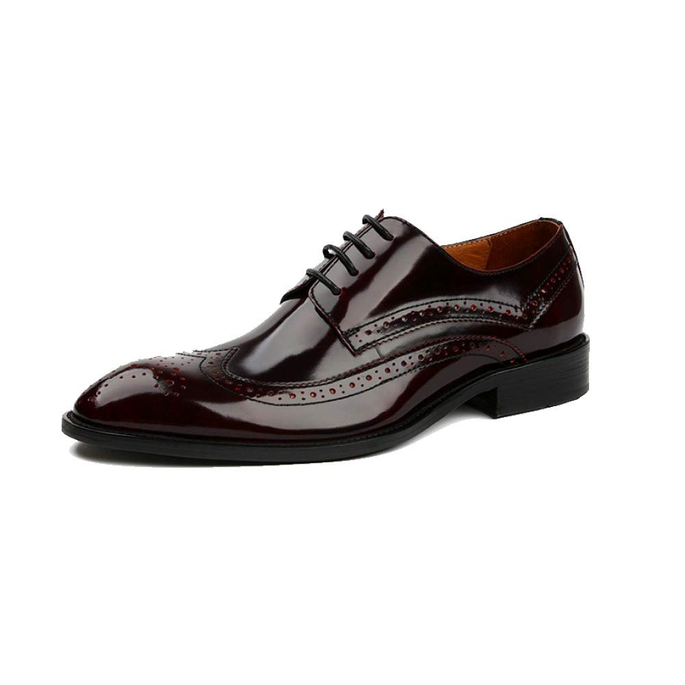 England Leder Lace Business Formelle Kleidung Männer Lace Leder Atmungsaktive WineROT 97b1ec