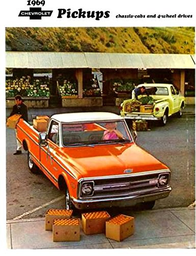 A MUST FOR OWNERS, RESTORERS & COLLECTORS - THE 1969 CHEVY PICKUP TRUCK DEALERSHIP SALES BROCHURE - INCLUDES; Fleetside, Stepside, Chassis Cab, Stake, Custom Campers, C 10, C 20, C 30, 2WD & 4WD - ADVERTISMENT - LITERATURE - CHEVROLET 69 ()