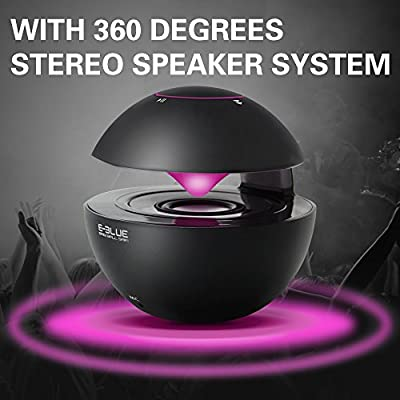 Portable Bluetooth Speakers, ONHI Wireless Mini Speakers with 7 Color Light and Noise Reduction Mic, Semi Leviation Style Sound Box, Support TF Card and audio input/output Suitable for indoor/outdoor
