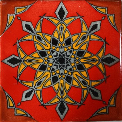 Fine Crafts Imports 6x6 4 pcs Quiroga Talavera Mexican Tile