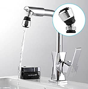 LRRH 360 Degree Rotate Faucet Deluxe Internal Thread Nozzle Filter Adapter Water Saving Bubbler Connector Swivel Tap Aerator Diffuser Kitchen Accessories(2PCS)