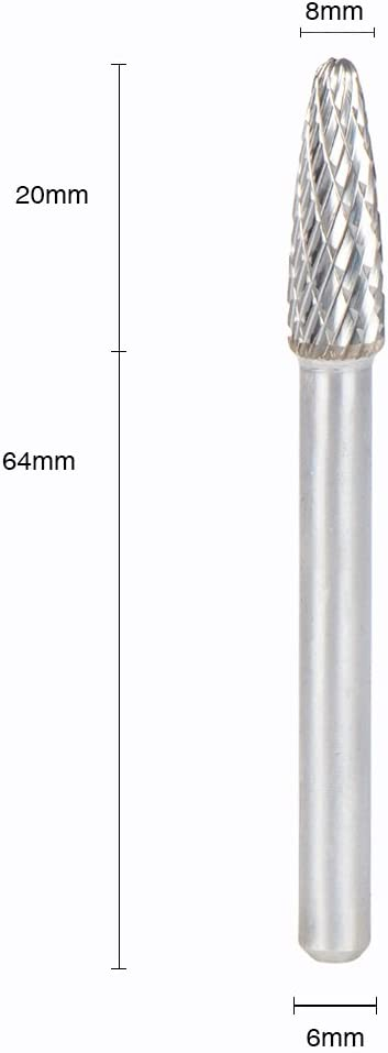 SpeTool Tungsten Carbide Burrs 6mm For Rotary Drill Die Grinder Carving Bit SF-1M 6x16MM