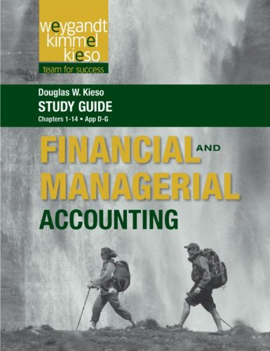 Download Study Guide to accompany Weygandt Financial & Managerial Accounting, 1st Edition, Volume 1 Pdf