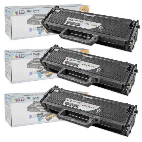 (LD Compatible Toner Cartridge Replacement for Samsung MLT-D101S (Black, 3-Pack))