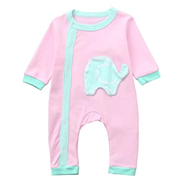 70e3876dd9d4 Amazon.com  WARMSHOP Toddler Baby Boys Girls Sleepwear Bodysuit ...