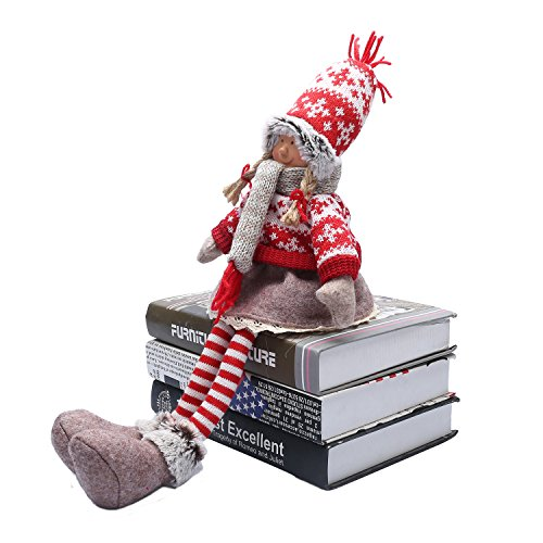 Handmade Christmas Gnome Decoration Girl and Boy Holiday Gifts Santa Tomte Swedish Figurines - 19 Inches (Girl)