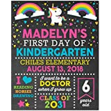 First Day of School Paper Art Print | First Day of School Sign | First Day Chalk | Kid First Day Sign | First Day of Kindergarten | Boys First Day of School | First Day of School Boy Girl