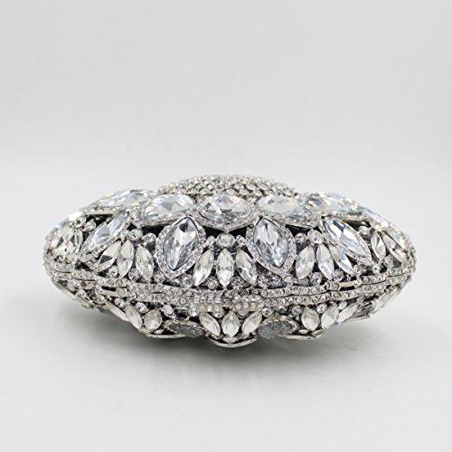 Mogor Crystal Big Bag Clutch Rhinestone Shape Sea Diamond Shell Evening Purses PP8rwp