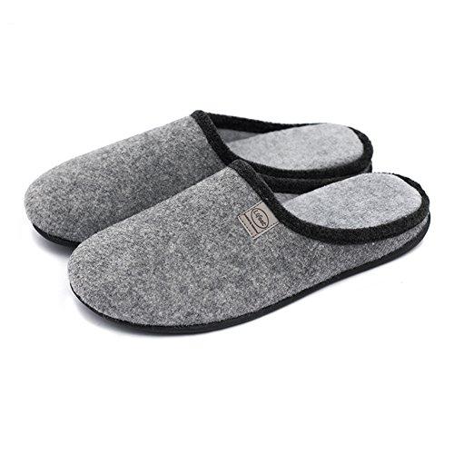Pantofole Antiscivolo Da Uomo Mecabiu In Cotone Lavabile