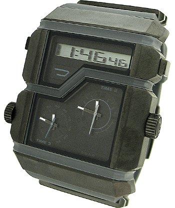 Diesel Men's DZ7178 Grey SBA Analog-Digital Silver and Gunmetal Dial Watch (Diesel Men Digital Watch)