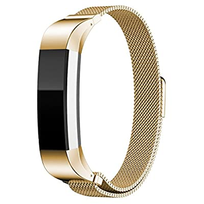 Fitbit Alta Band LEXN Adjustable Milanese Colorful Metal Bands with Strong Magnetic Clasp Replacement Accessory Watch Band Bracelet Loop Wrist for Fitbit Alta