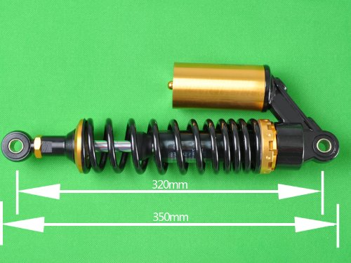 Wotefusi Motorcycle New One Piece Black Golden 12 5/8'' 320mm Round Ends Air Gas Shock Absorbers Replacement Universal Fit For Honda Suzuki Kawasaki Yamaha Ducati Scooter ATV Quad Dirt Sport Bike Go Kart by Wotefusi (Image #4)