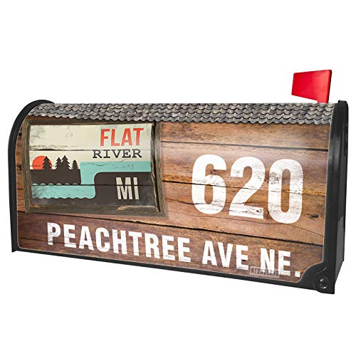 NEONBLOND Custom Mailbox Cover USA Rivers Flat River - Michigan]()