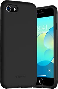 TORRAS iPhone 8 Case, iPhone SE 2020 Case, Liquid Silicone Case with [360° Full Body Protection] [Soft Smooth Grip] for iPhone 7 4.7 inch, Black